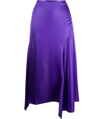 acne studios asymmetric hem skirt - purple
