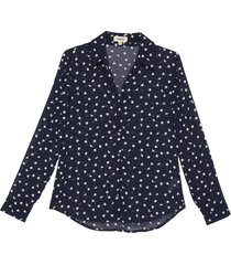 laurent' all-over floral embroidery sheer shirt