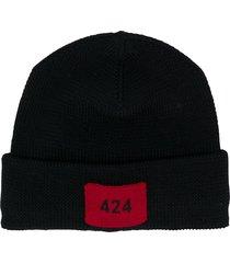 424 logo patch beanie - black