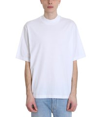 acne studios esco t-shirt in white cotton