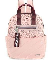 mochila maternal rosa chimola space dogs
