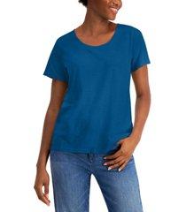 eileen fisher scoop-neck organic cotton t-shirt