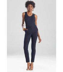 natori stretch cotton blend ankle pants, women's, size 8