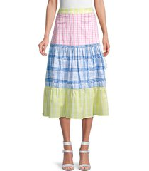 rococo sand women's plaid cotton skirt - size xs
