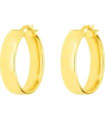 orecchini a cerchio in oro giallo spessore medio per donna