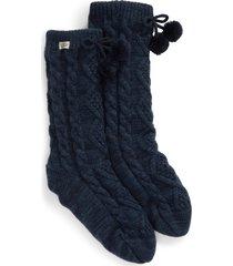 women's ugg fleece lined socks, size one size - blue