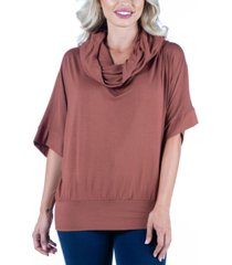 women's oversized cowl neck tunic top