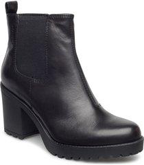 grace shoes boots ankle boots ankle boot - heel svart vagabond
