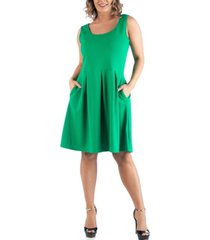 24seven comfort apparel women's plus size sleeveless dress