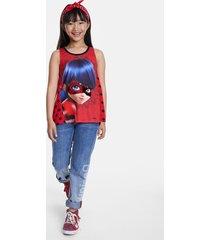ladybug reversible sequins t-shirt - red - 7/8