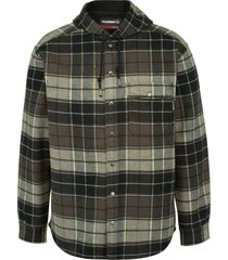 wolverine men's bucksaw bonded shirt jac charcoal plaid, size xxl