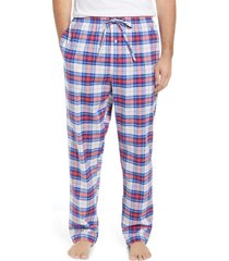 men's polo ralph lauren men's regency plaid stretch woven pajama pants, size medium - red