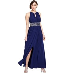 r & m richards petite sleeveless beaded gown