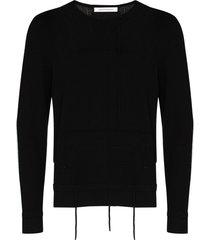 craig green lace-up detail sweatshirt - black
