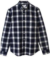camisa poplin slim azul oscuro gap