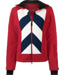 perfect moment chevron hooded day jacket - red