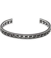 gucci square g cut-out bracelet - silver