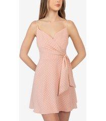 b darlin juniors' textured surplice-neck dress