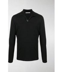 acne studios half-zip interlock sweatshirt