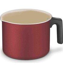 leiteira fervedor tramontina turim antiaderente vermelha 14cm