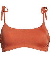 women's chelsea28 easy retro tie strap bikini top, size xx-large - brown