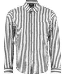 a.p.c. anton striped cotton shirt
