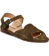 sandals - flat shoes summer shoes flat sandals grön angulus