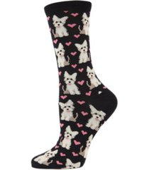 memoi puppy love women's novelty socks
