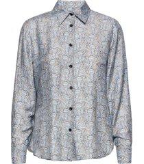 3418 - latia overhemd met lange mouwen blauw sand