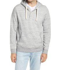 men's 1901 henley fleece hoodie