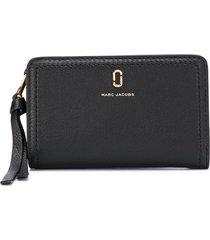 marc jacobs the softshot mini compact wallet - black