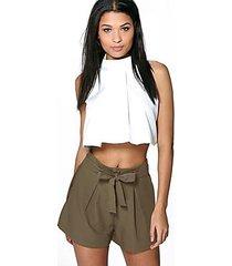 rebecca tie belt shorts