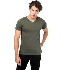 camiseta verde militar manpotsherd t-shirt