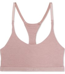 calvin klein women's pure ribbed unlined bralette qf6438