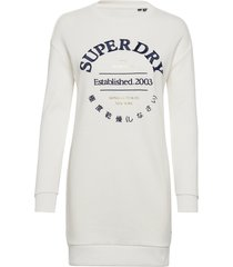 applique sweat dress kort klänning beige superdry