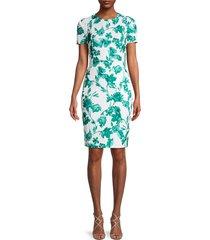 calvin klein women's floral sheath dress - jungle multi - size 8