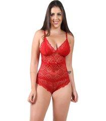 body isa lingerie lingerie de renda sem bojo vermelho