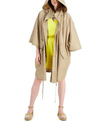 inc international concepts earth hooded cape jacket, created for macy's
