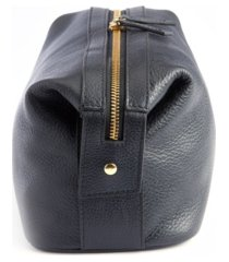royce new york pebbled leather toiletry bag