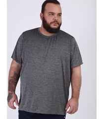 camiseta masculina plus size ace esportes manga curta gola careca cinza mescla
