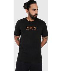 camiseta negro-naranja oakley mumbo