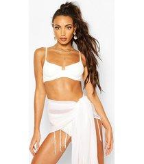 fringed sarong, white