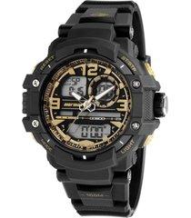 relógio mormaii analógio/digital mo09498u preto/dourado