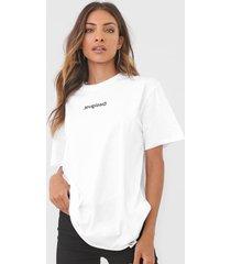camiseta desigual sonar branca - branco - feminino - algodã£o - dafiti