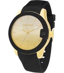 relógio mormaii analógico sport mo2035bf8m preto/dourado