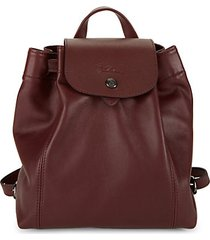 le pliage leather drawstring backpack