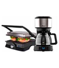kit grill inox e cafeteira day light programavel oster - 127v