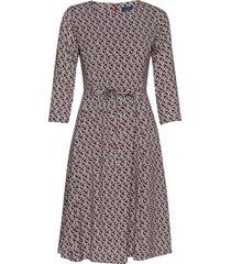 d1. autumn print dress knälång klänning multi/mönstrad gant