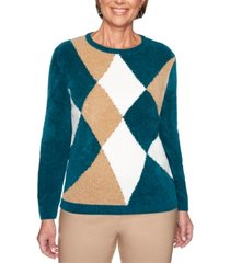 alfred dunner classics colorblocked chenille sweater