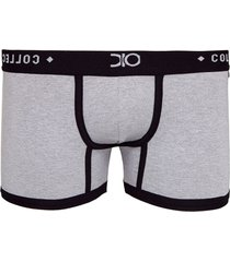 cueca boxer glam dionisio collection cinza - kanui